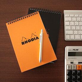 【メール便可 1冊まで】ロディア RHODIA / ノートパッド A5サイズ (オレンジ・5mm方眼)(cf16500)【メモ帳 リングノート デザイン おしゃれ】