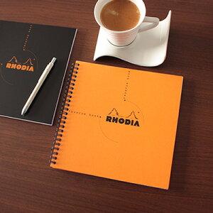 ロディア RHODIA / リバースブック 21X21cm 正方形 リングノート (オレンジ・5mm方眼)(cf193608)【正方形 ノート デザイン おしゃれ】