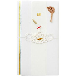 【メール便可 5個まで】【ご祝儀袋・金封】マークス MARK'S / 結婚祝・スタイリッシュ(ツル)(KNP-GB107-WH)【祝儀袋 デザイン おしゃれ かわいい】