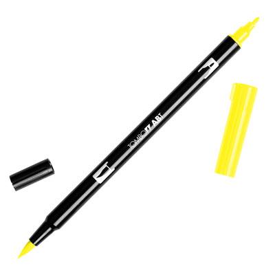 トンボ鉛筆 TOMBOW / デュアル ブラッシュペン AB-T 055 Process Yellow (水性マーカー全95色) (AB-T055)【水性マーカー カラー筆ペン グラフィック マーカー アート】