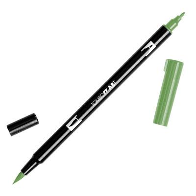 トンボ鉛筆 TOMBOW / デュアル ブラッシュペン AB-T 158 Dark Olive (水性マーカー全95色) (AB-T158)【水性マーカー カラー筆ペン グラフィック マーカー アート】