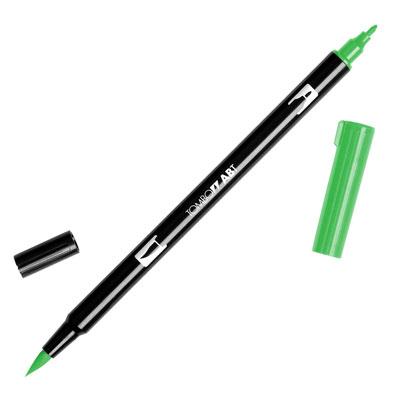 トンボ鉛筆 TOMBOW / デュアル ブラッシュペン AB-T 195 Light Green (水性マーカー全95色) (AB-T195)【水性マーカー カラー筆ペン グラフィック マーカー アート】