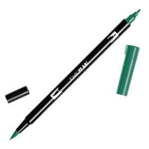 【メール便可 10本まで】トンボ鉛筆 TOMBOW / デュアル ブラッシュペン AB-T 249 Hunter Green (水性マーカー全108色) (AB-T249)【水性マーカー カラー筆ペン グラフィック マーカー アート】