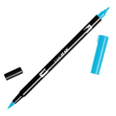 トンボ鉛筆 TOMBOW / デュアル ブラッシュペン AB-T 443 Turquoise (水性マーカー全95色) (AB-T443)【水性マーカー カラー筆ペン グラフィック マーカー アート】