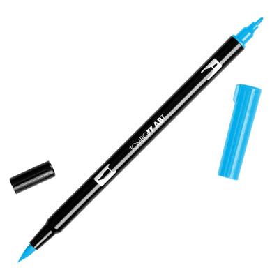 トンボ鉛筆 TOMBOW / デュアル ブラッシュペン AB-T 515 Light Blue (水性マーカー全95色) (AB-T515)【水性マーカー カラー筆ペン グラフィック マーカー アート】