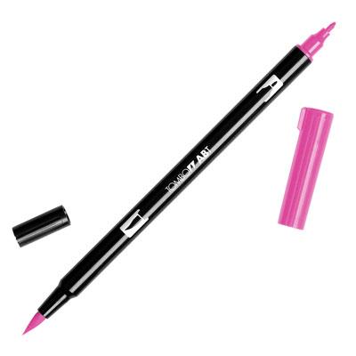 トンボ鉛筆 TOMBOW / デュアル ブラッシュペン AB-T 725 Rhodamine Red (水性マーカー全95色) (AB-T725)【水性マーカー カラー筆ペン グラフィック マーカー アート】