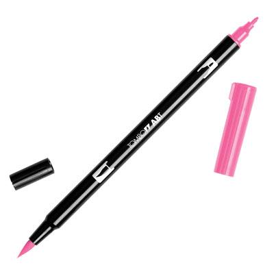 トンボ鉛筆 TOMBOW / デュアル ブラッシュペン AB-T 743 Hot Pink (水性マーカー全95色) (AB-T743)【水性マーカー カラー筆ペン グラフィック マーカー アート】
