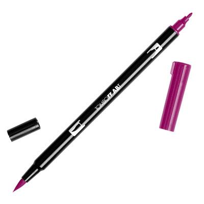 トンボ鉛筆 TOMBOW / デュアル ブラッシュペン AB-T 757 Port Red (水性マーカー全95色) (AB-T757)【水性マーカー カラー筆ペン グラフィック マーカー アート】