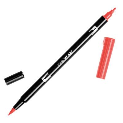 トンボ鉛筆 TOMBOW / デュアル ブラッシュペン AB-T 845 Carmine (水性マーカー全95色) (AB-T845)【水性マーカー カラー筆ペン グラフィック マーカー アート】