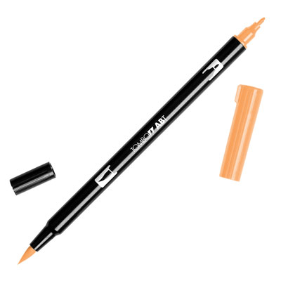 トンボ鉛筆 TOMBOW / デュアル ブラッシュペン AB-T 912 Pale Cherry (水性マーカー全95色) (AB-T912)【水性マーカー カラー筆ペン グラフィック マーカー アート】