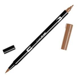 【メール便可 10本まで】トンボ鉛筆 TOMBOW / デュアル ブラッシュペン AB-T 977 Saddle Brown (水性マーカー全108色) (AB-T977)【水性マーカー カラー筆ペン グラフィック マーカー アート】