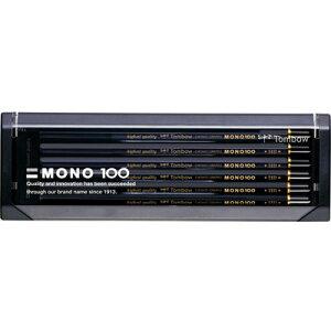 トンボ鉛筆 モノ100 高級鉛筆 1ダース (9H-6Bの17硬度)(MONO-100)【TOMBOW PENCIL MONO 鉛筆】