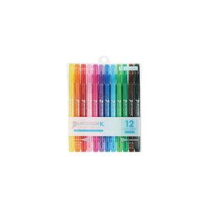 トンボ鉛筆 水性マーカー プレイカラーK 12色セット(GCF-011)(A-31339)【TOMBOW MARKING PEN PLAY COLOR K 水性マーキングペン】