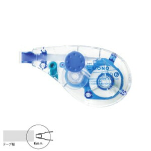 トンボ鉛筆 モノエルゴN6 テープ幅6mm (CT-YUXN6)(A-26881)【TOMBOW MONO ergo CORRECTION TAPE 修正テープ 詰め替えタイプ】