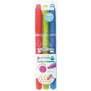 トンボ鉛筆 水性マーカー プレイカラードット 3色セットA(GCE-311A)(A-35471)【TOMBOW MARKING PEN PLAY COLOR Dot 水性マーキングペン】