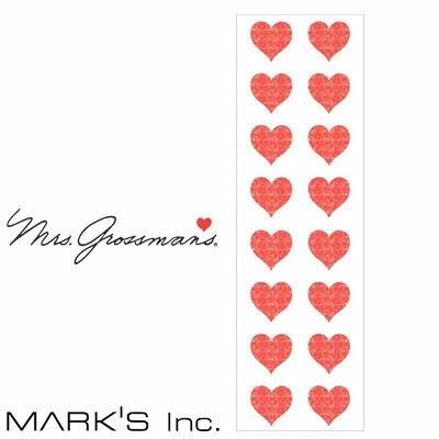 ステッカー シール マークス M プレミアム レッド ハート スパークル ミセスグロスマン MARK'S(GRS-ST02-31)【デコレーション デザイン おしゃれ かわいい カラフル】