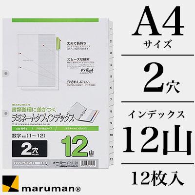 マルマンmaruman/2穴数字入り(1〜12)ラミネートタブインデックス12枚(A42穴12山(数字1〜12))(LT4212S)