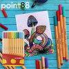 スタビロSTABILO/point88ポイント88水性ファイバーチップペン(カラーパレード20色セット)