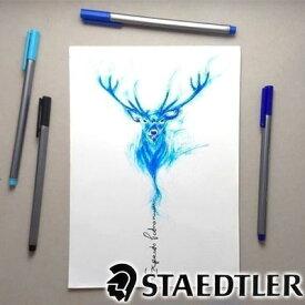 【メール便可 4個まで】ステッドラー STAEDTLER / トリプラス ファインライナー・細書きペン(4色セット)(334 SB4)【細字 カラーペン デザイン おしゃれ 輸入 ドイツ】