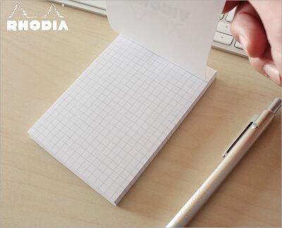 【ポイント10倍!!】ロディアRHODIA/ブロックロディアホワイトNo.12(ホワイト・5mm方眼)(cf12201)