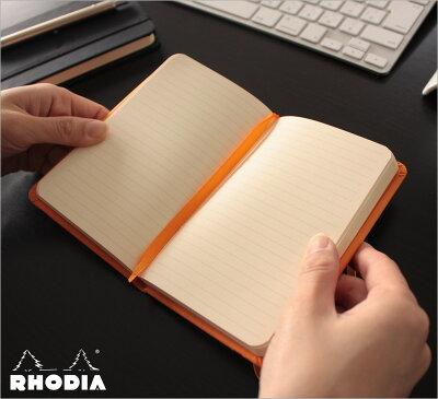 ロディアRHODIA/ウェブノートブックA6サイズ(オレンジ・横罫線)(cf118068)