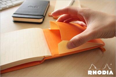 【ポイント10倍!!】ロディアRHODIA/ウェブノートパッドA7サイズ(オレンジ・ドット)(cf118298)