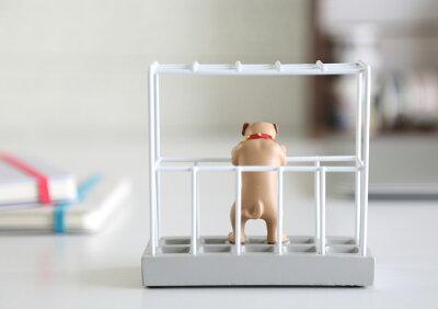 ペンスタンド/セトクラフトステーショナリースタンド(ブルドッグ)(SR-3231-160)【ペンたて小物入れ卓上収納デザインおしゃれかわいい動物犬イヌ】