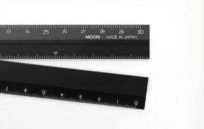 ミドリMIDORI/アルミ定規アルミマルチ定規(30cm)黒(42254006)