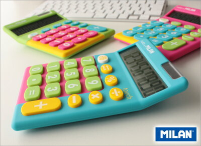 ミランMILAN/電卓10桁タッチミックスTOUCHMIXスカイブルー(150610TMBOX)