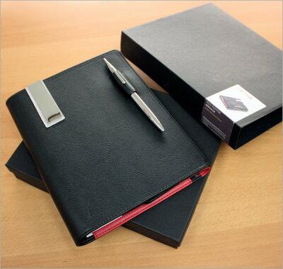 トロイカTROIKA/レザー手帳カバーノートカバー(A5サイズ・観音開き)スリムボールペン付き(BOK5)