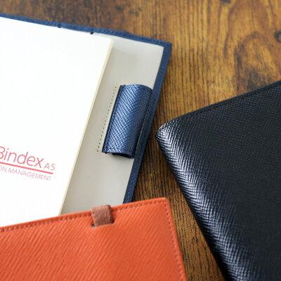 バインデックスBindex/セオリアシステム手帳A5サイズリング15mm(オレンジ)(AA96-5)【システム手帳革デザインおしゃれギフト】