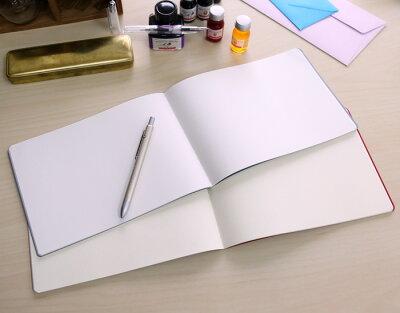 クレイドkleid/2mm方眼ノート横型A5サイズ2mmgridnotes(用紙:クリーム)【デザイン/おしゃれ/ノート/自由帳】