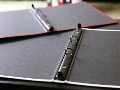 モノクロームカラードリングファイルA4SレッドPAMC-610RD