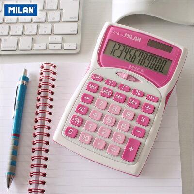 【ミラン電卓おしゃれ】ミランMILAN/電卓12桁ピンク(152012PBL)