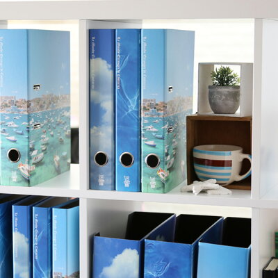 ★今ならポイント10倍★エトランジェディコスタリカ/リングファイルレバー式(A4サイズ・2穴・背幅50mm)(BLUE-01)【etrangerdicostaricaA4ファイルレバーファイル空海水デザインおしゃれインテリア】