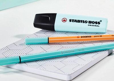 【蛍光ペンセットかわいい】スタビロボスオリジナルパステル蛍光ペンSTABILOBOSSORIGINALPastel(6色セット)(70-6-2)【蛍光マーカーマーカーペン水性マーカーデザインおしゃれ】