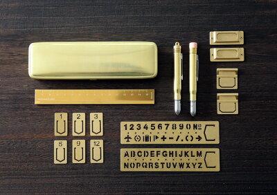 ミドリMIDORI/ブラスプロダクトペンシル無垢(38061006)