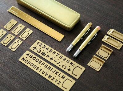ミドリMIDORI/ブラスプロダクトペンシル無垢真鍮製鉛筆キャップホルダー補助軸(38061006)【ブラス/おしゃれ/デザイン/かわいい/えんぴつキャップ/消しゴム付き】