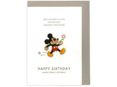 アートプリントジャパンARTPRINTJAPAN/ウッドパーツバースデーカードミッキーマウス(フラワー)(HC46532)