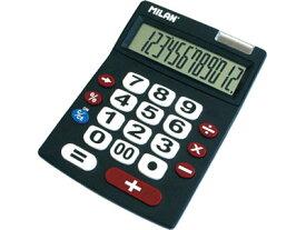 \ポイント10倍/【ミラン 電卓 おしゃれ】ミラン MILAN / 電卓 ビッグキー 12桁 ブラック(151712BL)