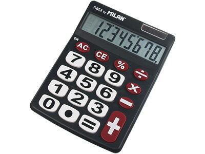 【ミラン電卓おしゃれ】ミランMILAN/電卓ビッグキー8桁ブラック(151708BL)