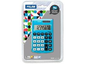 \ポイント10倍/【ミラン 電卓 おしゃれ】ミラン MILAN / 電卓 8桁 ポケット電卓 ブルー(150908BBL)