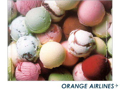オレンジエアラインORANGEAIRLINES/フリー台紙アルバム(S)IceCreamアイスクリーム(AL-042)