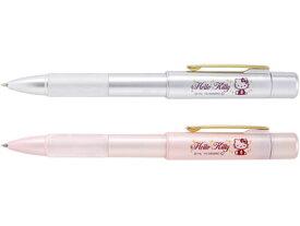 サンビー SANBY / HELLO KITTY ハローキティ スタンペン4F (ボールペン黒 + ボールペン赤 + シャープペン0.5mm + 9mm丸浸透ネーム印)(TSK-661)
