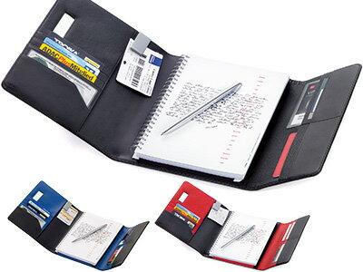 トロイカTROIKA/レザー手帳カバーノートカバー(A5サイズ・観音開き)スリムボールペン付き(BOK52)
