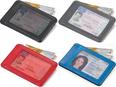 トロイカTROIKA/窓付カードケースカラリ(ICカード用外側ポケット付き)(CCM1)