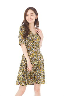 The size that sleeve V neck knee length Fille A Suivre has a big for Fass (FAS) dress T1 T2 T3 size adult dress Lady's five minutes