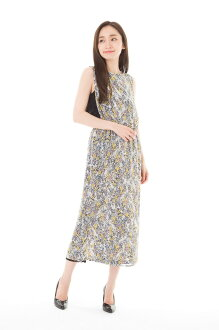 A フィフィーユ (FIFILLES) dress T1 adult dress lady's sleeveless long length floral design dress is refined