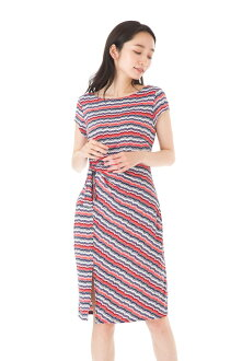 The size that フィフィーユ (FIFILLES) dress T1 T2 T3 size short sleeves knee length dress adult jersey plain fabric Lady's of superior grade has a big