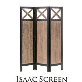 [中型家具]《東谷》isaac アイザック スクリーン3連 幅40cm 高さ155cm  衝立 パーテーション 仕切り 目隠し 折りたたみ コンパクト シンプル モダンシック 天然木 ミンディ使用 木製 お洒落 インダストリアル 西海岸 cafe カフェスタイル nw-862